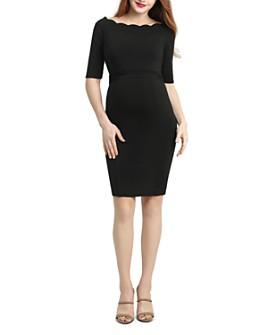Kimi & Kai - Kendall Scalloped-Neck Maternity Dress