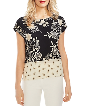 Vince Camuto Tops MIXED-PRINT TOP