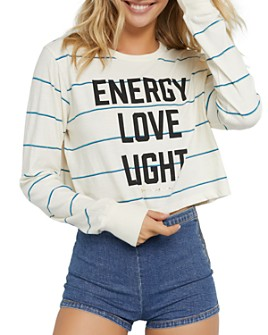 Spiritual Gangster - Fiona Energy Striped Cropped Tee