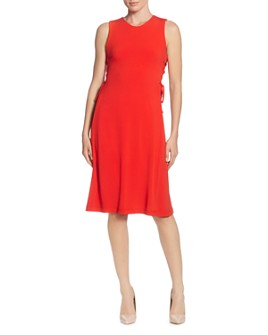 T Tahari - Sleeveless Side-Lace-Up Dress