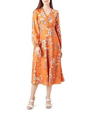 Hobbs London Ferrier Floral Midi Dress