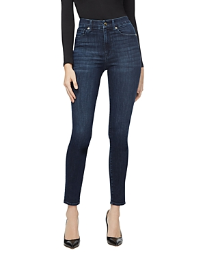 Good American Good Waist Rivet Detail Skinny Jeans in Blue284-Women