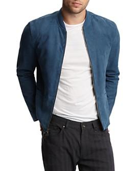 John Varvatos Collection - Suede Zip-Front Jacket