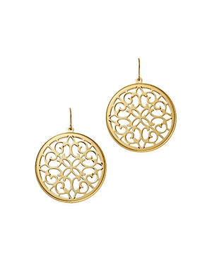 Bloomingdale's Garden Gate Disc Earrings in 14K Yellow Gold - 100% Exclusive
