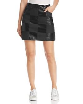 Escada Sport - Lalla Checkered Leather Mini Skirt
