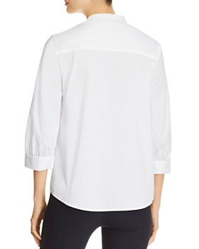 Donna Karan - Trimmed-Placket Henley Top