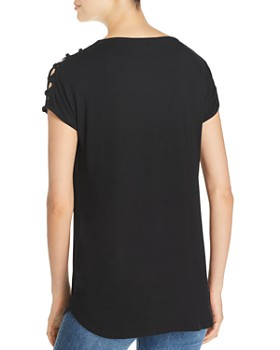 Alison Andrews - Shoulder-Cutout Tee