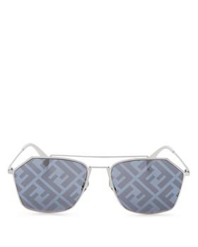 Fendi - Unisex Geometric Sunglasses, 56mm