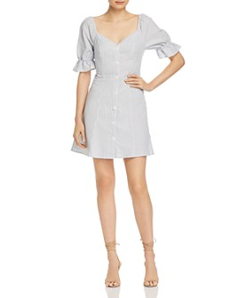 The Fifth Label - Savannah Striped Button-Down Mini Dress