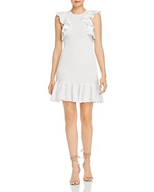C/Meo Collective Expired Smocked Ruffled Mini Dress