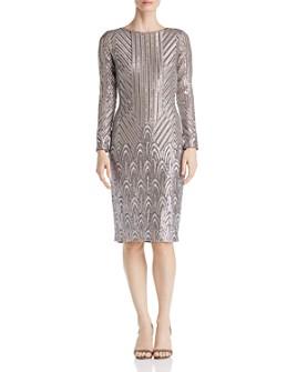 AQUA - Art Deco Sequined Dress - 100% Exclusive