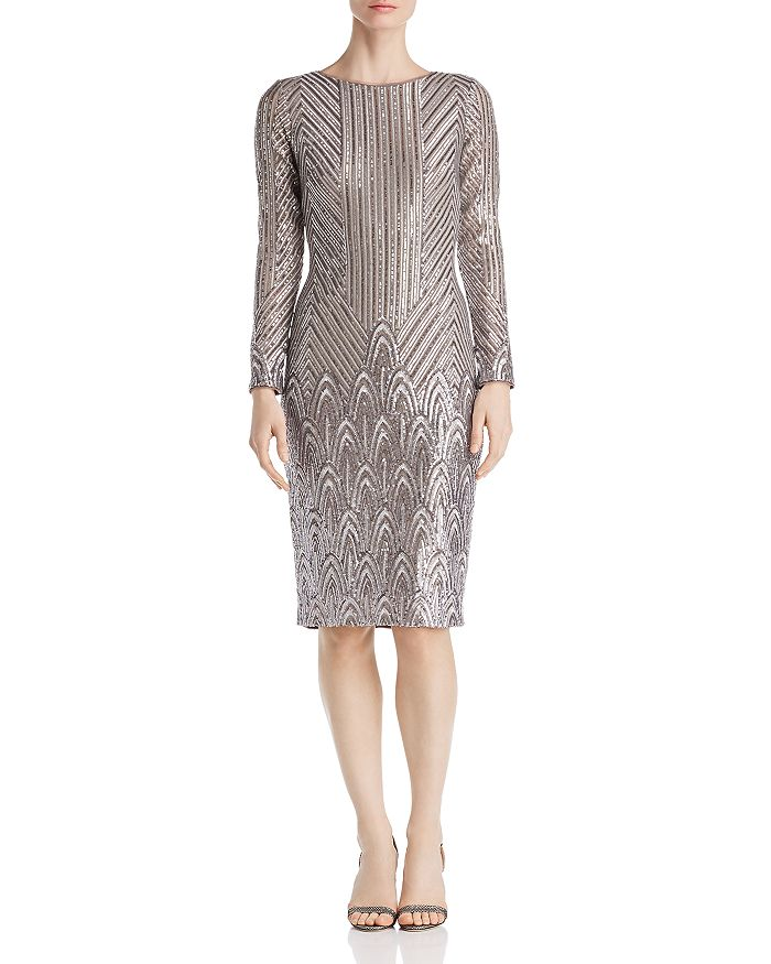 AQUA - Art Deco Sequined Dress - 100% Exclusive