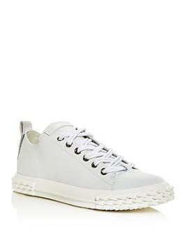 Giuseppe Zanotti - Men's Blabber Double-Lace Leather Low-Top Sneakers