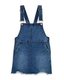 AQUA - Girls' Denim Skirtalls, Big Kid - 100% Exclusive