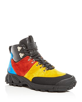 Burberry - Men's Henfield Color-Block Suede Hiking Boots