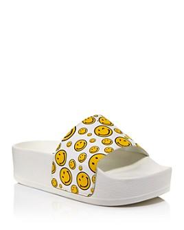 Joshua Sanders - Women's Holographic Foil Chunky Slide Sandals