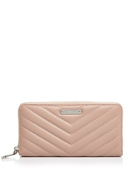 Rebecca Minkoff - Edie Quilted Leather Zip Wallet