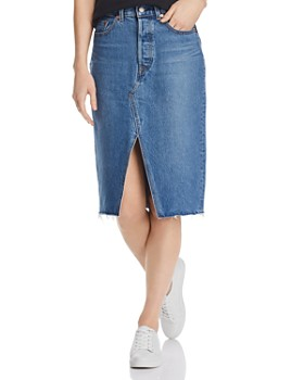 d9aef425e Levi's - Deconstructed Denim Skirt in Vast Desert ...
