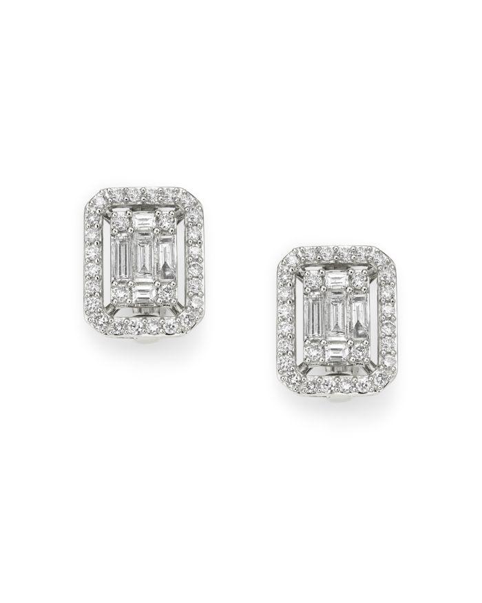 Bloomingdale's Diamond Mosaic Earrings in 14K White Gold, 1.0 ct. t.w. - 100% Exclusive  | Bloomingdale's