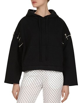 The Kooples - Safety Pin-Detail Cotton Hoodie