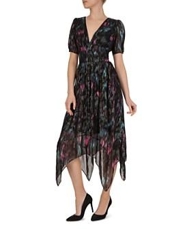 The Kooples - Floral-Print Metallic Dress