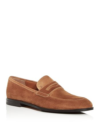 Bally - Men's Webb Suede Apron-Toe Penny Loafers