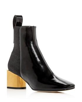 Proenza Schouler - Women's Square-Toe Block-Heel Booties