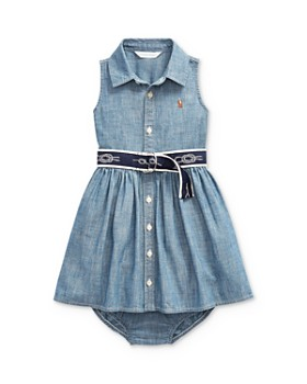 caf2c23011 Ralph Lauren - Girls' Belted Dress & Bloomers Set - Baby ...