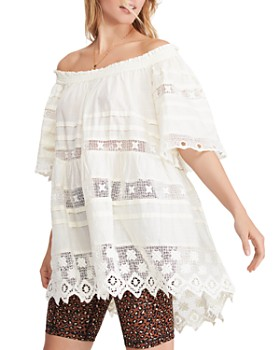 4906e56c2d6 Free People - Sounds Of Summer Crochet-Inset Tunic ...