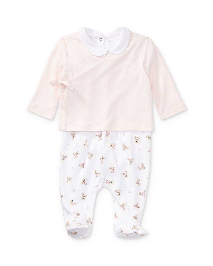 Ralph Lauren - Girls' 3-Piece Bodysuit, Overalls & Top Set