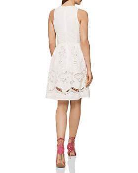 REISS - Rosina Broderie Anglaise A-Line Dress