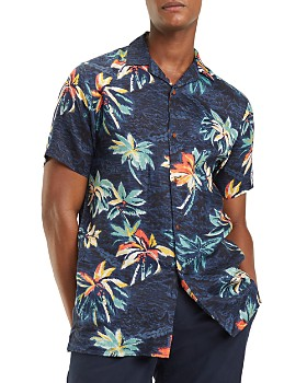 Tommy Hilfiger - Short-Sleeve Hawaiian-Print Classic Fit Shirt