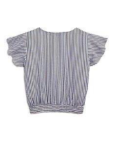 AQUA - Girls' Striped V-neck Top, Big Kid - 100% Exclusive