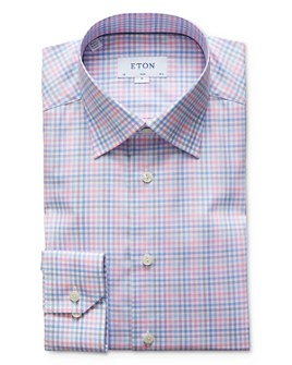Eton - Multi-Check Slim Fit Dress Shirt