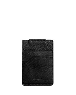 Shinola - Signature Leather Magnetic Money Clip Card Case