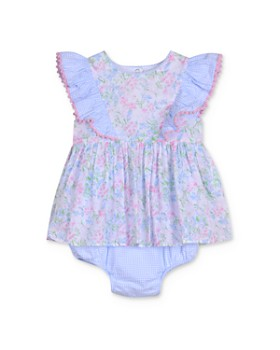 Pippa & Julie - Girls' Ruffled Floral Romper - Baby