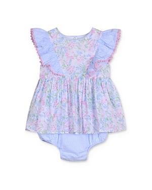 Pippa & Julie Girls' Ruffled Floral Romper - Baby