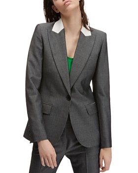Barbara Bui - Contrast Collar Single-Button Blazer