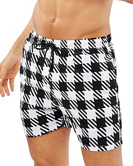 Solid & Striped - Gingham Swim Shorts