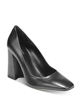 Via Spiga - Women's Beatrice Square-Toe Block-Heel Pumps