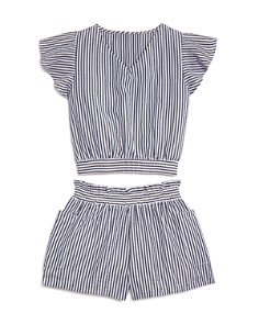 AQUA - Girls' Striped Top & Shorts Set, Big Kid - 100% Exclusive