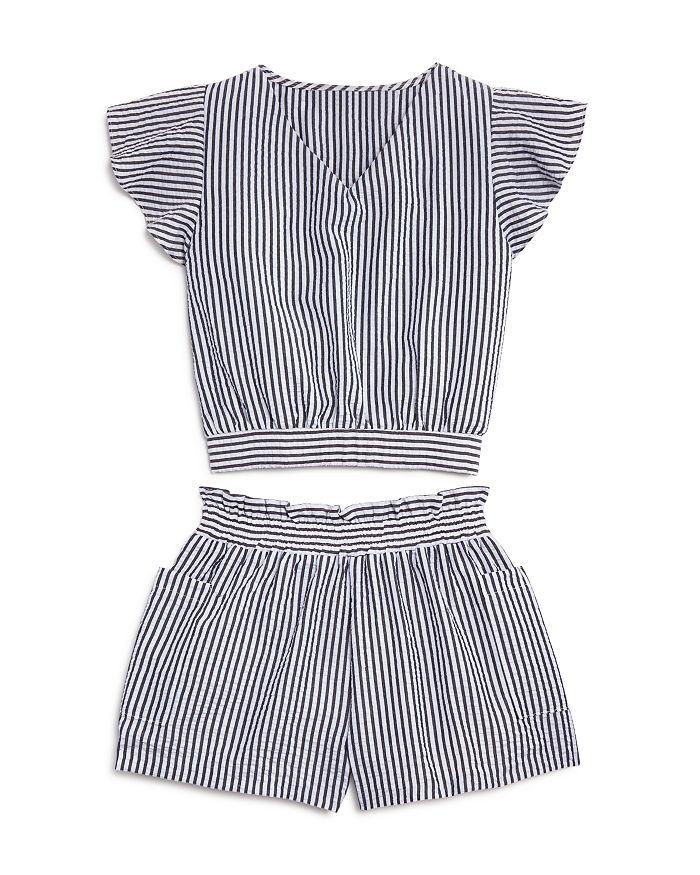 AQUA - Girls' Striped Top & Shorts, Big Kid - 100% Exclusive