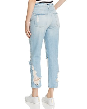 3x1 - W3 Higher Ground High-Rise Shredded Straight-Leg Jeans in Marco