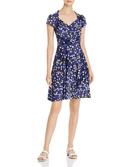 Leota - Floral-Print Sweetheart Dress