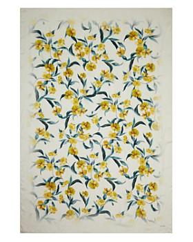 Max Mara - Hibiscus Print Silk Scarf