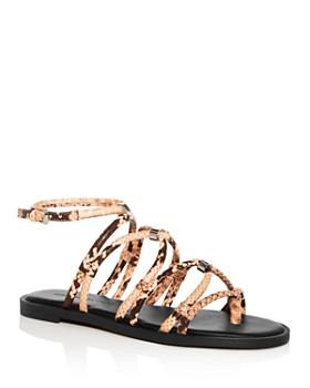 Rebecca Minkoff - Women's Sarle Too Snake-Embossed Gladiator Sandals