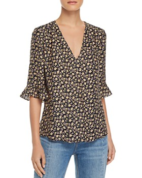3ea213300aef64 Rebecca Taylor - Louisa Floral-Print Silk Top ...