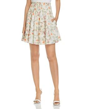 Rebecca Taylor - Kamea Smocked Floral Mini Skirt