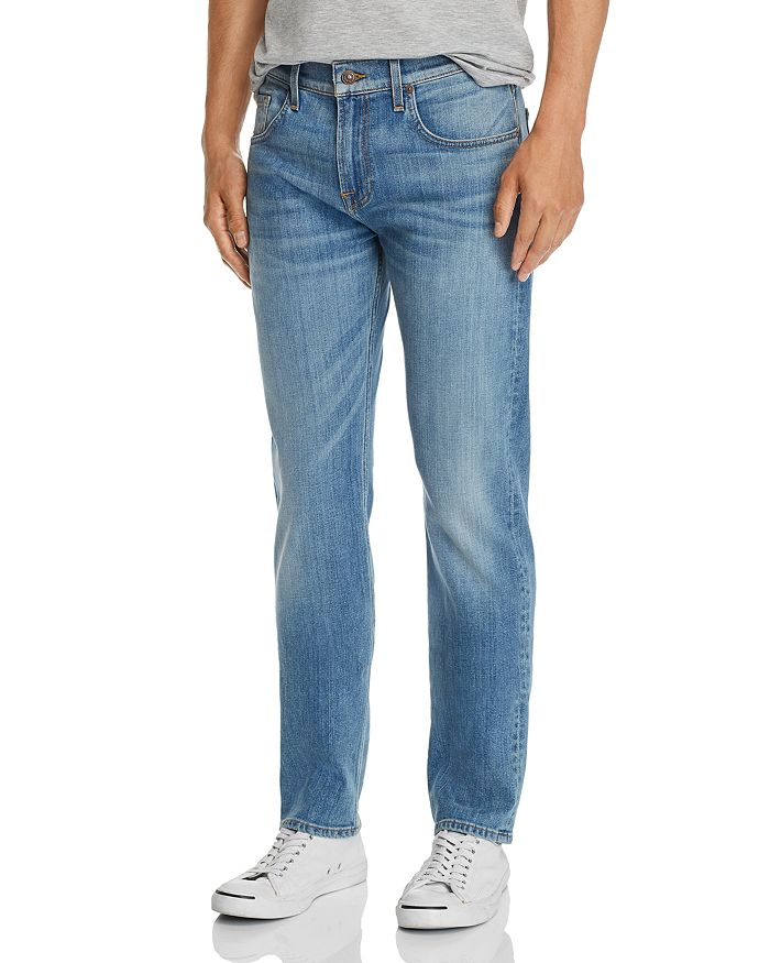 7 For All Mankind - Straight Slim Fit Jeans in Traction