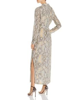 Lafayette 148 New York - Snake-Print Maxi Shirt Dress